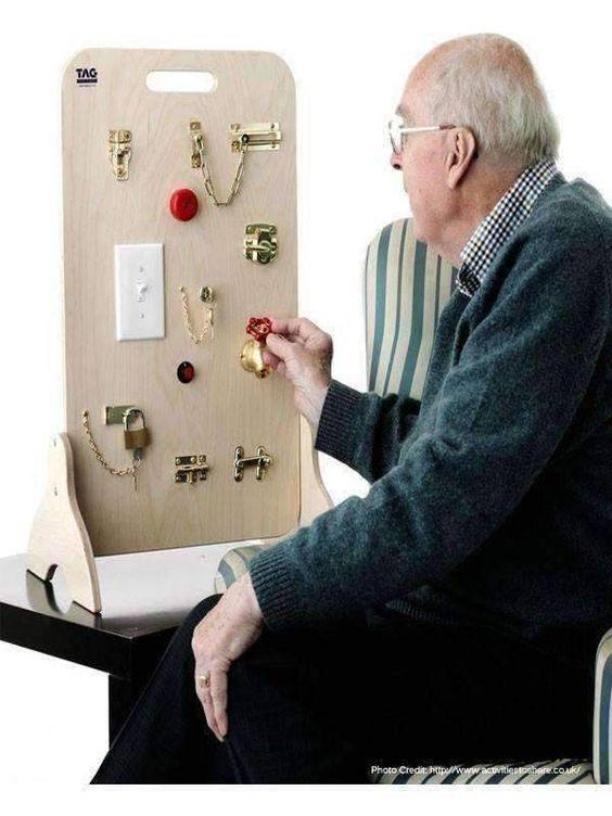 Kennisoverdracht - onrust en dwaalgedrag - Belevingsbord man - Brein Plaats